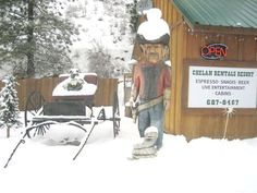 Snowmobile, snowshoe and X-country ski right from your front door. Call 509-687-Tims (8467) or visit http://www.chelanrentals.com/reservations/ to reserve your Cabin.