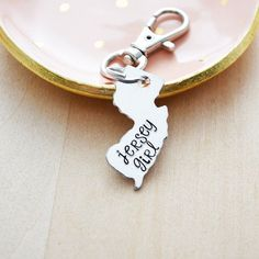 Cali Girl Hand Stamped Keychain California Home State Gift for Best Friend Long Distance Relationship