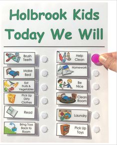 Chore Chart Shipped for Kids, Daily Checklist, To Do List, you choose the Movable Chores - Modern Daily Routine Chart For Kids, Charts For Kids, Daily Routines, Kids Planner, Daily Checklist, Chore Chart Kids, Dry Erase Board, How To Make Bed, Kids Playing