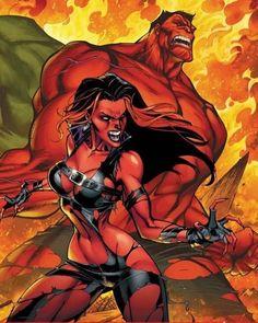 Fall of the Hulks: The Savage She-Hulks Scott Campbell/C/ Comic Art… Marvel Comics, Heros Comics, Comics Anime, Arte Dc Comics, Marvel Comic Universe, Hulk Marvel, Comic Book Heroes, Marvel Heroes, Avengers