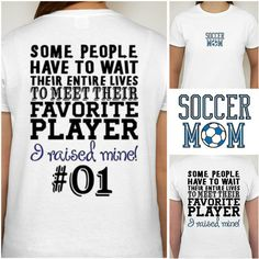 Soccer Mom T-Shirt Proud Soccer Mom Shirt Sports Gear Fan Cheer S M L... ($23) ❤ liked on Polyvore