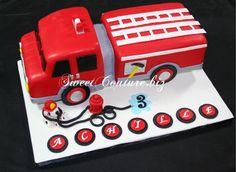 Gâteau Pompier Cake Firefighter