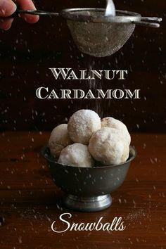 Low Carb Walnut Cardamom Snowballs