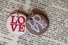 Charm Round Love by sweetwaterscrapbook on Etsy, $9.50