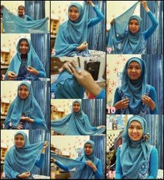 Tutorial Hijab Simple Part I | 1001 Tutorial Hijab