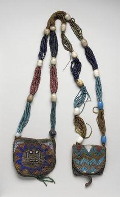 C Nigeria: Yoruba Odigba Ifa [Divination Necklace]. LACMA, gift of Diane Wedner and Ron Ziskin. African Beads, African Jewelry, Tribal Jewelry, African Art, Pearl Jewelry, Jewelery, Moda Fashion, Purses And Bags, Fashion Jewelry
