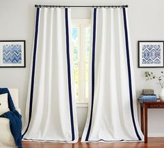 Cotton Curtains, Cotton Drapes & Cotton Window Panels | Pottery Barn