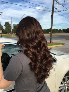 Chocolate brown hair medium dark brown hair long hair curls perfect brown. Hair by Rena Belle Chasse, LA