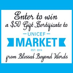 Disclaimer: This is a sponsored post on behalf of UNICEF Market. I received samples in order to facilitate my review. Opinions expressed are 100% my own. I recently posted about UNICEF here on the ...#Sponsored: Enter to win a $50 Gift Certificate to the UNICEF Market and help save children!