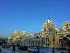 Ж/Д вокзал «Иркутск-Пассажирский» / Irkutsk Railway Station en Иркутск, Иркутская обл.