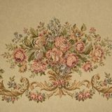 RARE Victorian French Floral Needlepoint Jacquard Panel for Settee Upholstery