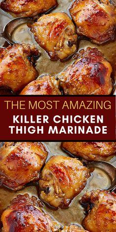 Chicken Thights Recipes, Easy Chicken Recipes, Turkey Recipes, Meat Recipes, Dinner Recipes, Cooking Recipes, Chicken Thigh Marinade, Chipotle, Chicken Recipes