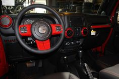 2014 RED JEEP WRANGLER UNLIMITED SPORT WITH 5.75″ LIFT AND 38″ TIRES – $79,995 | American Wheel and Tire
