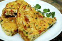 طريقة عجة البيض بالجبن والبروكلي