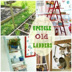 great ideas for upcycling old ladders