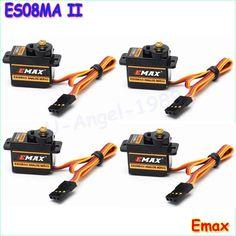 무료 배송 100% orginal 한 배 EMAX ES08MA II 미니 금속 기어 아날로그 서보 12 그램/2.0 키로그램/0.12 초 Mg90S