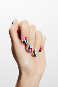 Geometry lessons. Love this nail art!