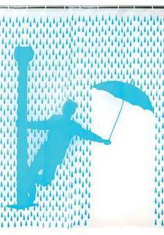 Rideau de douche pour chanter sous la pluie