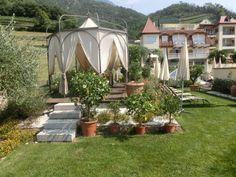 Der mediterrane Preidlhof Garten mit Massagemöglichkeit