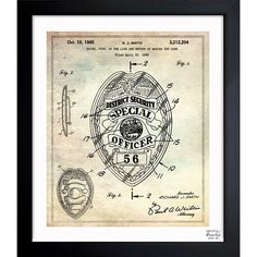 Exclusive blueprints inspired by real vintage patent drawings & illustrations. Handcrafted in the Oliver Gal Artist Co. Studios in Miami, Florida. Produced on matte proofing paper and hand framed by p