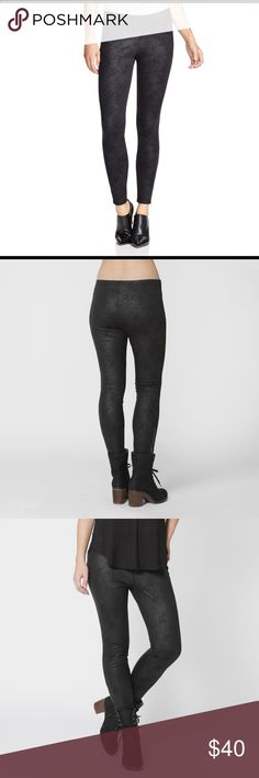 Free People Hutton Coated Pointe Grey Leggings Effortlessly add a edgy-chic essence to your ensemble with these leggings!  Comfortable pointe fabric is treated with a coating for a faux suede look. Ankle zippers make these leggings perfect for a night out. Slim fit and tapered legs with a covered elastic waistband. Absolutely stunning on! Splendid Pants Leggings