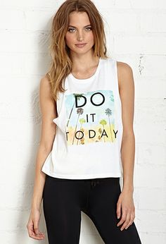 Do It Today Muscle Tank | FOREVER 21 - 2000088000