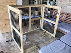 Dogs want to jump, run and play. They enjoy to consume, even after it is an item… - dog kennel boarding Custom Dog Kennel, Dog Kennel Cover, Diy Dog Kennel, Diy Dog Bed, Dog Kennels, Kennel Ideas, Building A Dog Kennel, Diy Dog Crate, Great Dane Crate