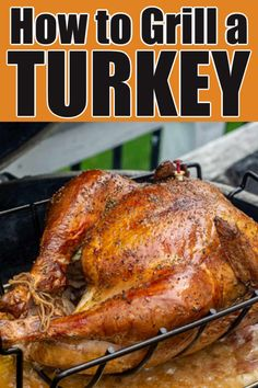 Learn how to grill a whole turkey without it drying out. This moist and delicious grilled turkey is easy to achieve with a little bit of prep. via laughter Pellet Grill Recipes, Grilling Recipes, Grilling Tips, Smoker Recipes, Roast Recipes, Paleo Recipes, Yummy Recipes, Dinner Recipes, Turkey Prep