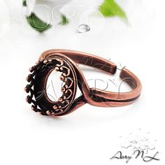 1pcs Copper Plated Brass Wire Crown Bezel Ring Setting by AoryNL