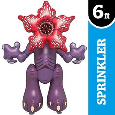 BigMouth Inc. Stranger Things Demogorgon Yard Sprinkler, Huge Foot Tall Inflatable Sprinkler with Stranger Things Theme, Easy to Inflate/Deflate and Clean, Makes a Great Gift Idea New Electronic Gadgets, Electronic Gifts, Stranger Things Theme, Kids Yard, Cool Electronics, Giant Inflatable, Diy For Men, Water Toys, Tips