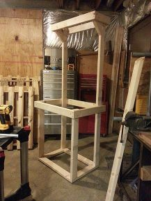 pallet furniture, painted furniture, pallet, repurposing upcycling, woodworking projects, The 2x4 frame