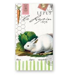 Michel Design Works Bunnies Hostess Napkin, Package of 16, 3-Ply by Michel Design Works. $12.17. Bunny and hare motif decorate this green cabbage garden favorite. Combine with michel design works' soaps, lotions, journals, and trays to create a unique, personalized gift sure to be used and appreciated. Also used as guest towels, group together with plates and trays for a perfect party accent or gift. Hostess napkins come packaged 16 napkins per pack, luxurious 3-ply....