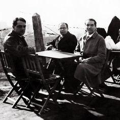 Federico García Lorca con Eduardo Ugarte y Luis Buñuel.