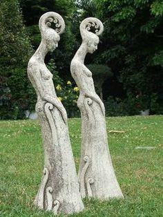 Image result for garden craft sculptured heads