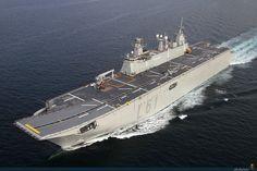 LHD Juan Carlos I (L61) Amphibious Assault Ship, Spanish Navy, built by Navantia.