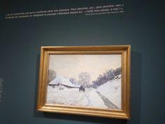 Claude Monet - Charrette, Neige à Honfleur