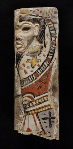 Tile depicting a Hittite chief. Egyptian, New Kingdom, 20th Dynasty, reign of Ramesses II, 1184-1153 BCE.