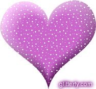 Wilmary Purple Glitter Heart Saying | Love looks through a telescope; envy, through a microscope.