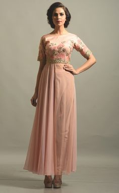 #spring/Summer fashion#peach color#highly enriched embroidered#summer look#fashion#summer#wedding..