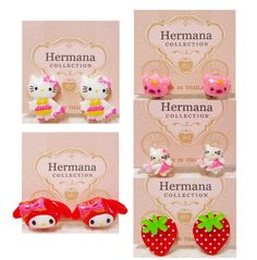 5 Pairs Lot Of Cute Clip On Earrings For Kids Fashion Women Children Gift