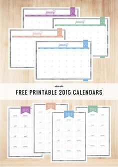 Imprimible calendarios y planner completo // Updated Calendars for 2015 - by Eliza Ellis
