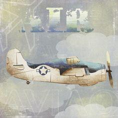 duo gravuras avião - decoração quadro