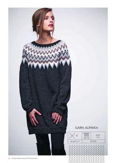 I denne kolleksjonen har vi latt oss inspirere av ulike garnkvaliteter og… Sweater Knitting Patterns, Knit Patterns, Icelandic Sweaters, Nordic Sweater, Knitwear Fashion, Knit Fashion, Fair Isle Knitting, Sweater Design, Mode Style