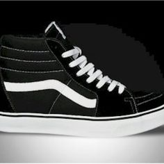 Black and White vans hi-tops. Next investment. Guilty pleasure. Black And c5676ebda