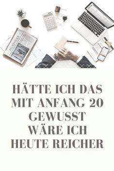 finances in your Wenn ich heute nochmal 20 wre - finance Money Plan, Money Tips, Money Hacks, Investing Money, Saving Money, Earn Money From Home, How To Make Money, Affiliate Marketing, Savings Planner