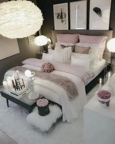 Bedroom decor - Elegant Rustic Bedroom Ideas That Will Give Your Rustic Bedroom An Uplift elegantbedroom bedroomdesign bedroomideas ~ Beautiful House Cute Bedroom Ideas, Girl Bedroom Designs, Room Ideas Bedroom, Master Bedroom Design, Home Decor Bedroom, Living Room Decor, Bed Room, Bedroom Inspiration, Bedroom Furniture