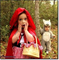 Disfraz de Caperucita Roja casero y original. Por ahí también se ve al lobo feroz!!