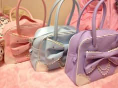 Jewel Ribbon Boston Bag