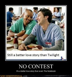 WAY better love story than Twilight.It's GUY LOVE between two guuuuuyyyysss. Turk and JD Man I love that show! Best Love Stories, True Stories, Love Story, Short Stories, Grey's Anatomy, Turk And Jd, Scrubs Tv Shows, Thats 70 Show, Plus Tv