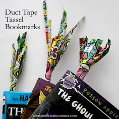 Duck tape on pinterest duct tape duct tape crafts and for Duct tape bookmark ideas